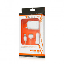 ZESTAW IPHONE 4/4S 3W1 1,1A FOREVER NEW