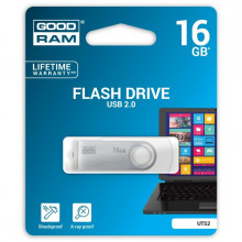 PENDRIVE GOODRAM 16GB TWISTER USB 2.0 BIAŁY