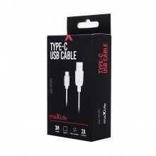 KABEL USB TYP C Fast Charge 2A 3 metry MAXLIFE