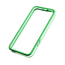 BUMPER IPHONE 5/5S/SE TRANSPARENTNY + ZIELONY